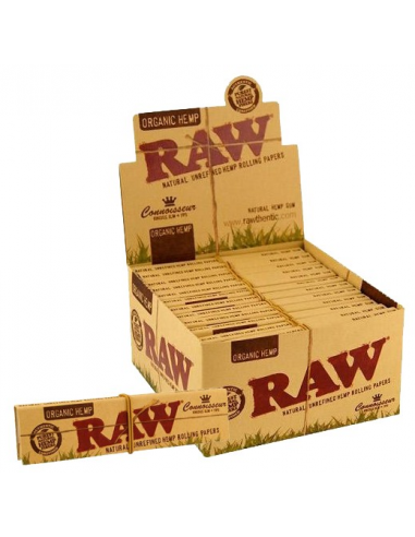 RAW ORGANIC tissue papers with filters Koneser King Size Slim WHOLE PACK 24 pcs.