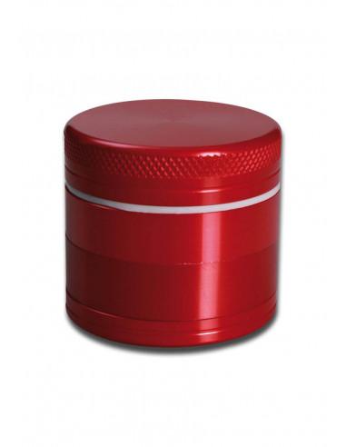 Herb grinder 4-piece metal, diameter 40 mm red