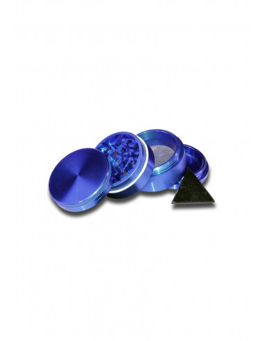 Herb grinder 4-piece metal, diameter 40 mm blue