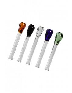 Glass Snorter tube, length 77 mm