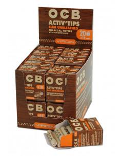 Filtry OCB z aktywnym węglem niebielone 10 szt.