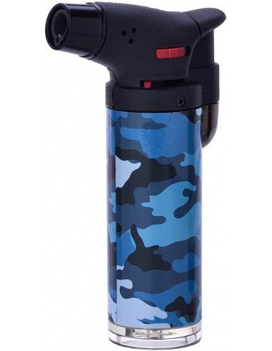 Prof Camouflage Easy Torch incandescent lighter 4 colors blue