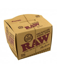 RAW PREROLLED CONE TIPS filters 100 pcs. In the package