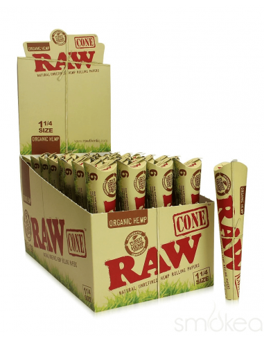 Bibułki skręcone RAW Organic Cone 1 1/4 6PKS