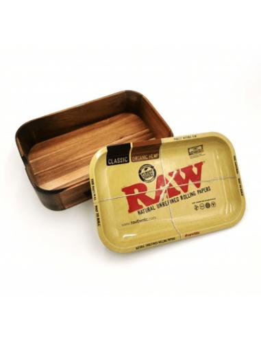 RAW Wooden Cache Box bambusowy schowek 2 w 1 z tacką