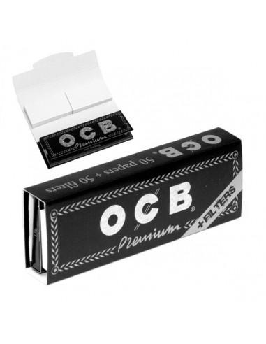 Bibułki krótkie OCB Premium z filtrami 1 1/4 przezroczyste