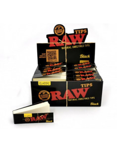 Filterki RAW Black Tips 50 pcs.