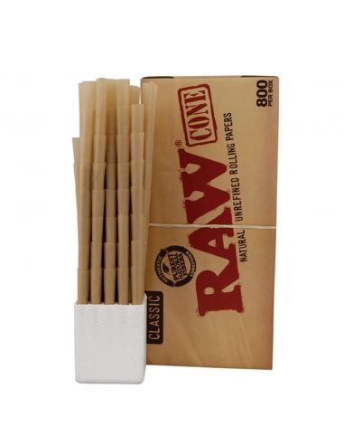 Bibułki RAW Prerolled Cone King Size box 800 szt.