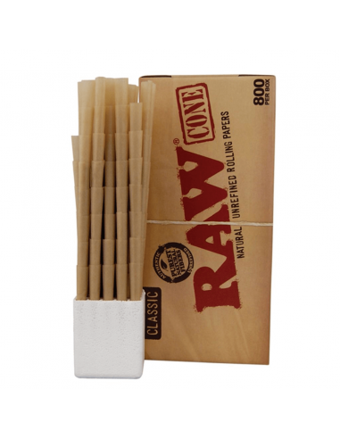 RAW tissue papers Prerolled Cone King Size box 800 pcs.