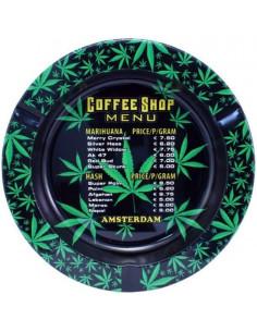 Metalowa popielniczka AMSTERDAM COFFEESHOP MENU