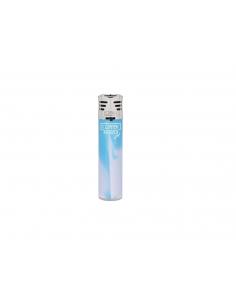 Clipper lighter, pattern WHITE NEBULA Jet blue