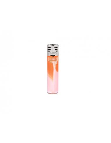 Clipper lighter in the pattern WHITE NEBULA Jet orange