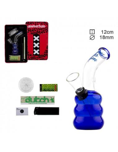 Amsterdam Bong Gift Set- Zestaw bongo + akcesoria w metalowym pudełku
