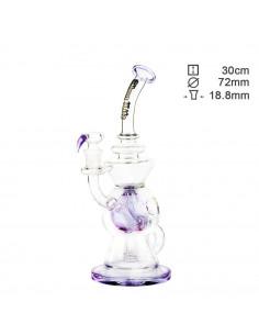 Bongo z filtracją Thug Life Recycler Purple wys. 30 cm szlif 18.8 mm