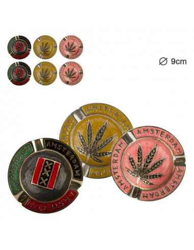 Amsterdam metal ashtray 3 colors to choose from