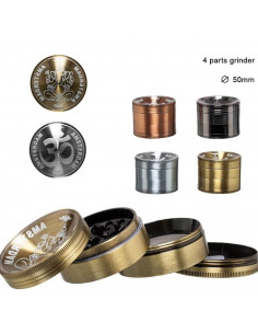 Grinder do ziół Grace Glass Metallic 4 części średnica 50 mm