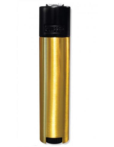 Zapalniczka Clipper Metal Black & Gold metalowa w etui złota