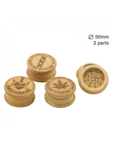 Drewniany grinder do suszu 2-częściowy średnica 50 mm