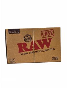 RAW Pre-Rolled Cone 1 1/4 - Gotowe skręcone bibułki + filtry CAŁA PACZKA 1000 szt.