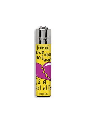 Clipper lighter, LOVE QUOTES design 1