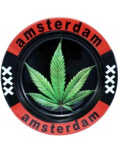 Metalowa popielniczka Amsterdam XXX Leaf
