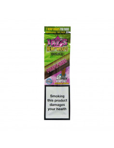Bibułki JUICY JAYS Hemp Blunt Wraps smak PURPLE WAVE Jagodowy