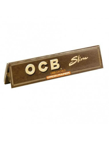 OCB VIRGIN King Size Slim brown tissue papers