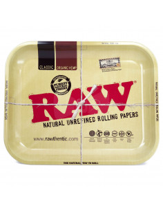 RAW LARGE tray for rolling joints, metal, 34x27.5 cm