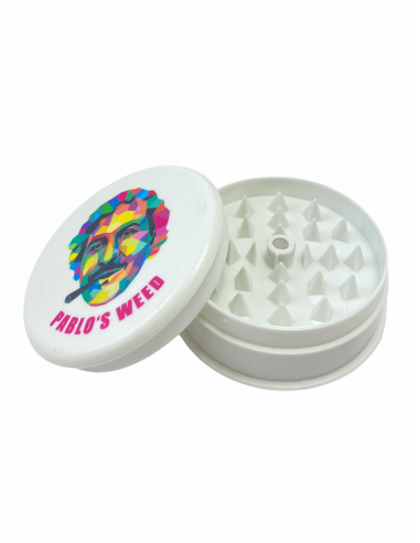 Grinder do suszu Pablo's Weed 3-częściowy akrylowy biały