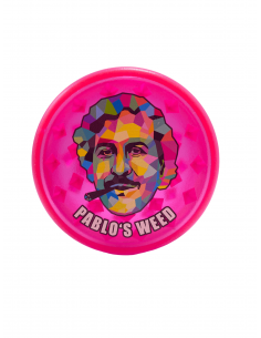 Grinder for dried Pablo's Weed Mix 3 acrylic, diameter 60 mm pink