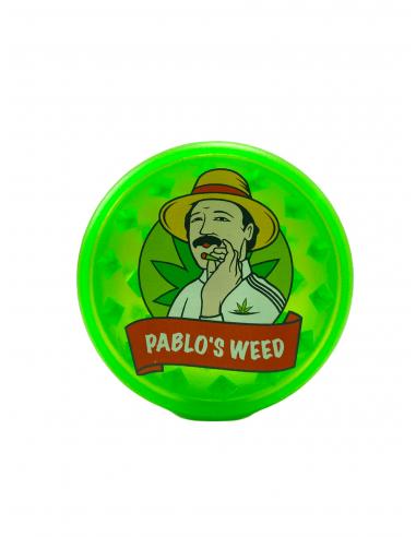 Grinder do suszu Pablo's Weed Mix 3 akrylowy średnica 60 mm zielony