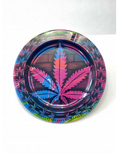 Popielniczka Colourful Leaf metalowa