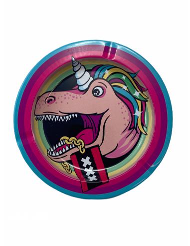 XXX Unicorn metal ashtray