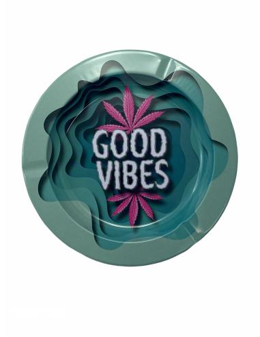 Good Vibes metal ashtray