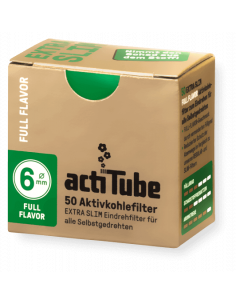 ActiTube EXTRA SLIM Full Flavor - Active carbon filters 6 mm 50 pcs