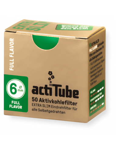 ActiTube EXTRA SLIM Full Flavour - Aktywne filtry węglowe 6 mm 50 szt