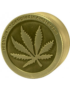 Grinder do suszu Amsterdam Leaf Gold 3 części średnica 40 mm