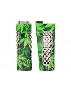 Nakładka z grinderem na zapalniczkę Clipper 420 GREEN