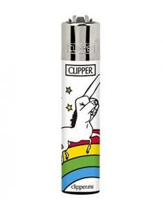 Clipper lighter, pattern COOL UNICORNS 1