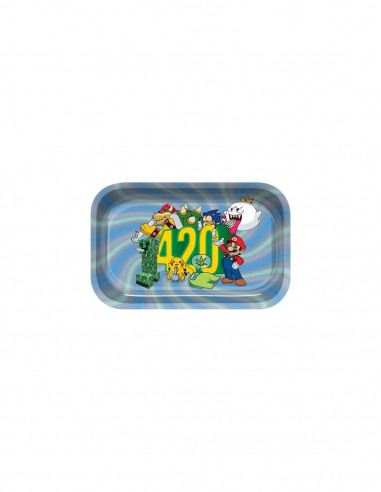 Tray for joints 420 World Mario Bros metal, 29 x 19 cm