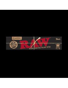 Bibułki RAW Black KS Slim ultra-cienkie niebielone 32 szt.