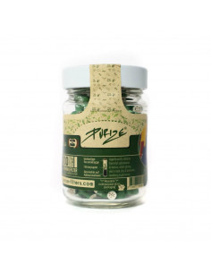 Active carbon filters Purize XTRA Slim Green 100 pcs. Glass Jar