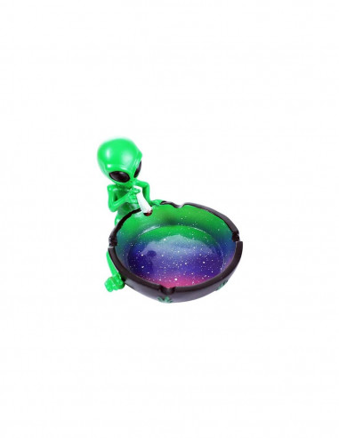 High Alien ceramic ashtray scorched alien funny gift