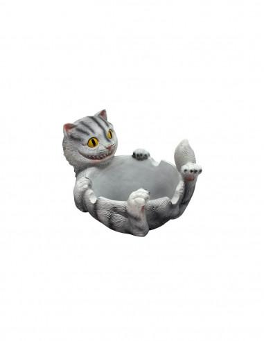 Happy Cat ashtray ceramic ashtray cat funny gift