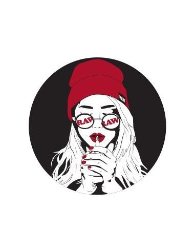 RAW ART DECO GIRL sticker