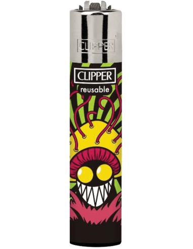 Clipper lighter PSYCHO MUSH pattern 1