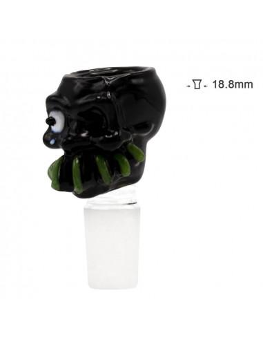 Bong bowl Grace Glass Monster Black cut 18.8 mm