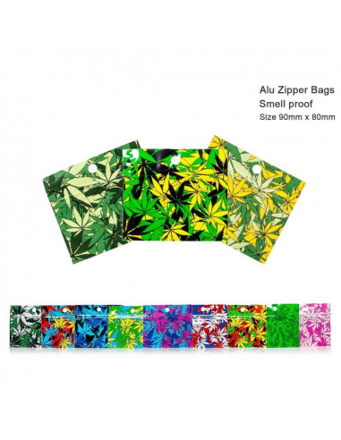 Amsterdam Zipper Bag, odorless, waterproof 90x80 mm