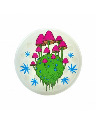 Grinder do suszu Alien Mushrooms 3-częściowy akrylowy grzybki 1