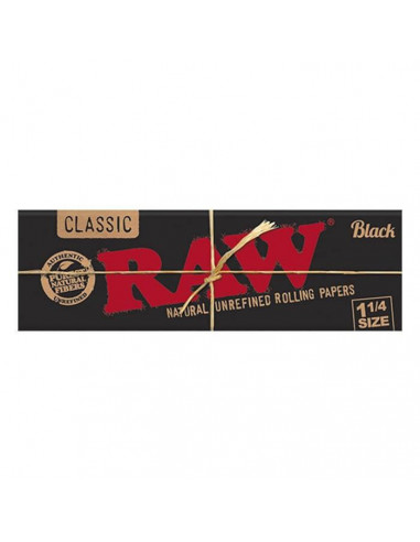 Blotting papers RAW Black 1 1/4 50 Leaves 50 pcs. In the package